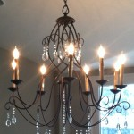 Dining Room chandelier after